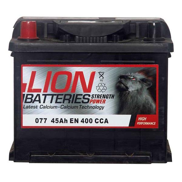 Lion 077 Battery – 3 Year Guarantee