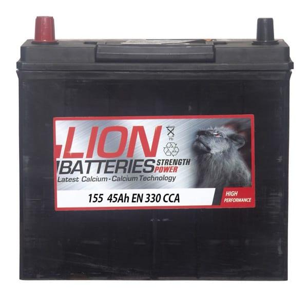 Lion Car Battery – 155 – 3 Year Guarantee