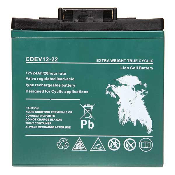 Lion Golf AGM 12V 22AH + T-Bar + Carry Strap