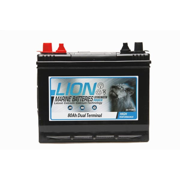 Lion Sealed Marine Battery – 80Ah Twin Terminals
