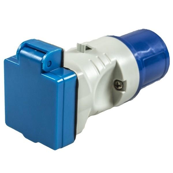 16A Plug to UK Socket Adaptor