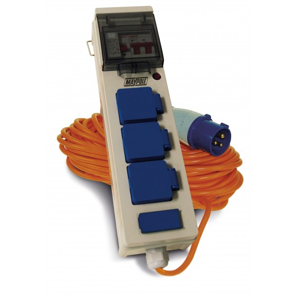 3 Way Mobile Mains Power Unit with Twin USB