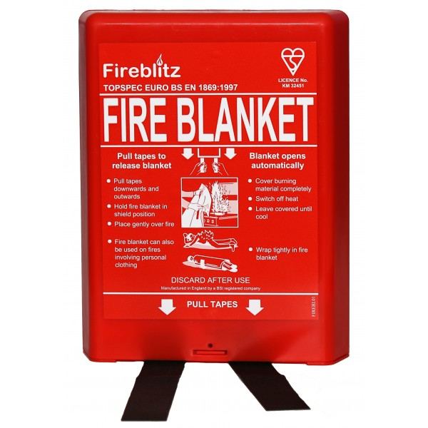 Fire Blanket in Hard Case – 1.2 x 1.2m