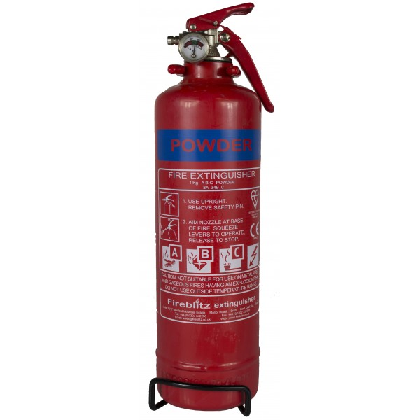 ABC Dry Powder Fire Extinguisher with Gauge – 1kg