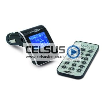 Caliber FM Transmitter for Music Streaming with USB/SD Reader and RDS Text