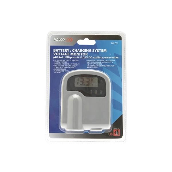 Battery/Charging System Voltage Monitor – 12V/24V