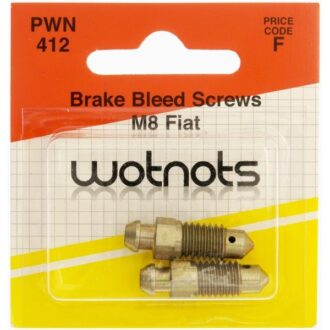 Bleed Screws – M8 x 1.25 Pitch – Fiat – Pack Of 2