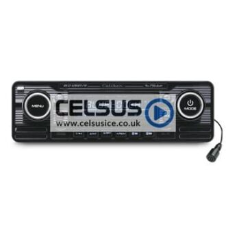 Caliber CD Player with FM Tuner, USB/SD Reader & AUX-Input (Chrome)