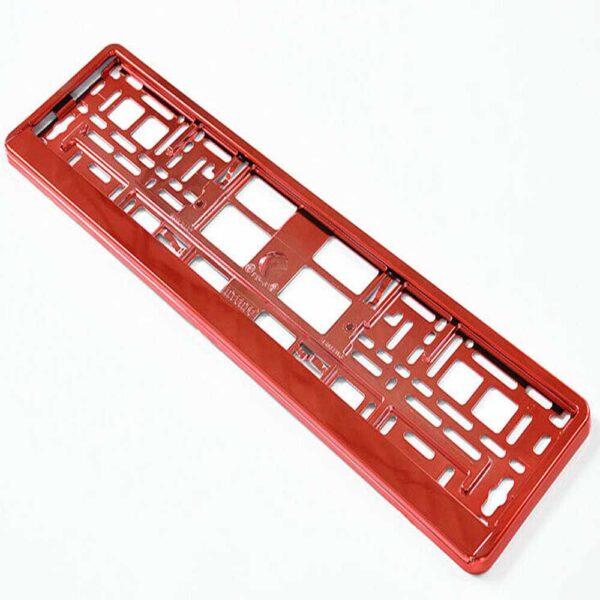 RED CHROME NUMBER PLATE HOLDER
