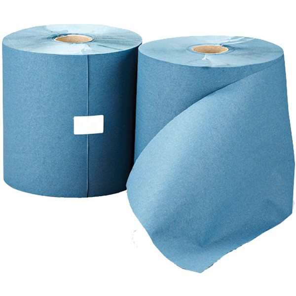 1 Ply Blue Towel Roll – 200m x 197mm – Pack of 6
