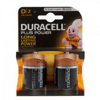 Plus Power Alkaline D Batteries – Pack of 2