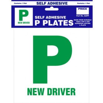P Plates – Self Adhesive – Pair
