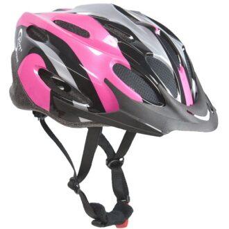 Vapour™ Adult Black & Pink Cycle Helmet 56-58cm
