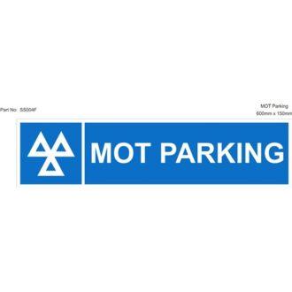 Rigid Sign – MOT Parking – 600mm x 150mm