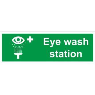 Eye Wash Station Sign – Self Adhesive Vinyl – 100mm x 300mm