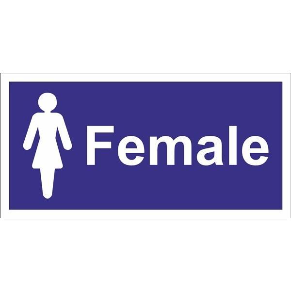 Female Toilet Sign – Self Adhesive Vinyl – 100mm x 200mm