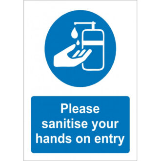 Please Sanitise Your Hands On Entry Sticker