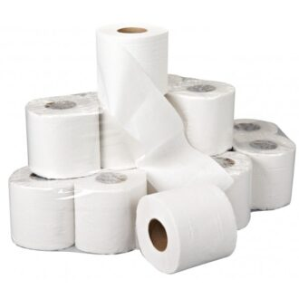 2 Ply White Toilet Rolls – 36 Rolls of 320 Sheets