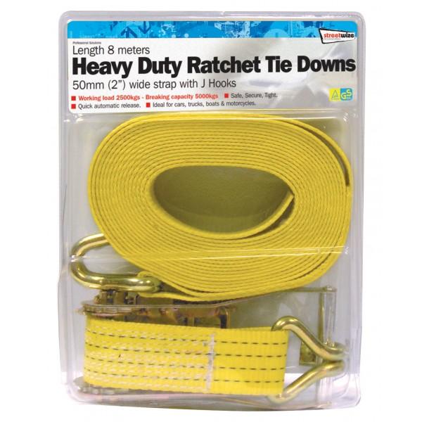 Ratchet Tie Down – Heavy Duty – 50mm/8m