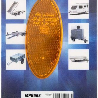 MAYPOLE REFLECTOR 2X AMBER RECTANGLE S/ADHESIVE