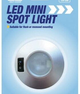 MAYPOLE 12V LED MINI SPOT LIGHT – SILVER