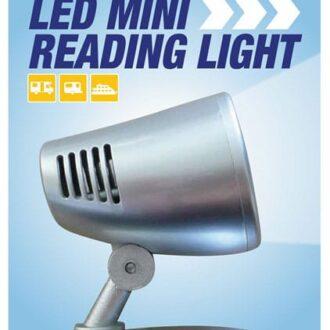 MAYPOLE 12V LED MINI-READING LIGHT – SILVER