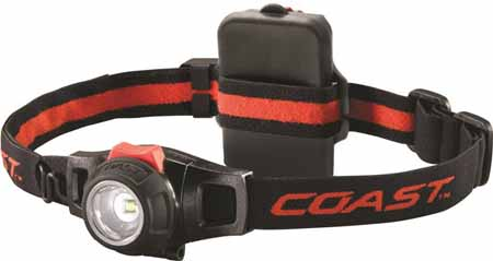 DIMMABLE/FOCUSING HEAD TORCH 240 LUMENS