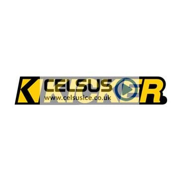 Kicker Logo Decal – Yellow & Black – 3″
