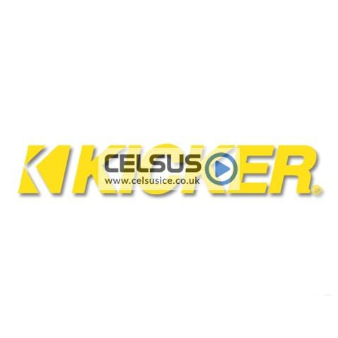 Kicker Logo Decal – Yellow – 19″