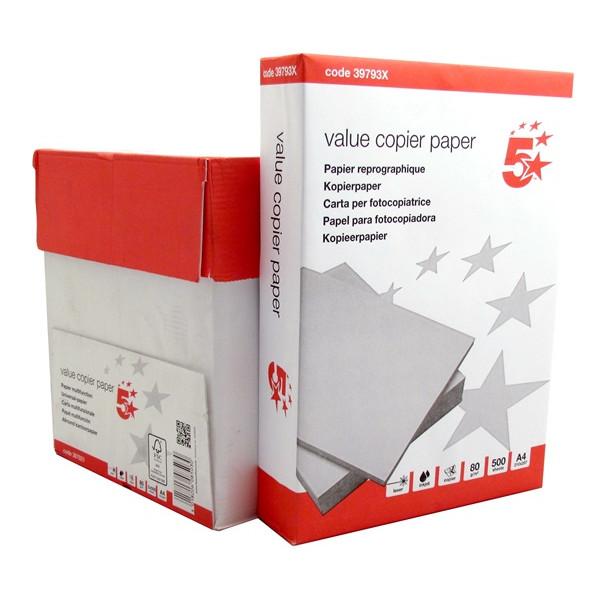 A4 Value Copier Paper – 80gsm – 5 Reams of 500 Sheets