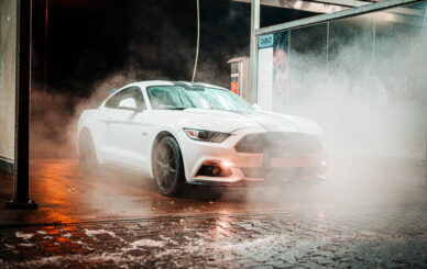 parked-white-coupe-during-night-3354648