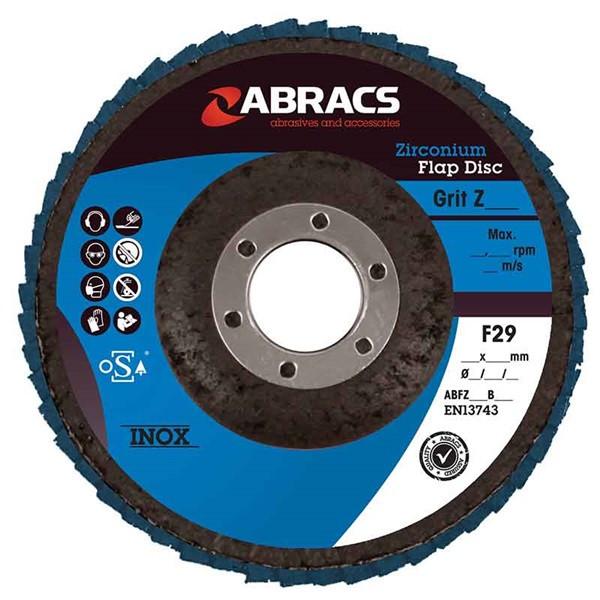 Zirconium Flap Discs – P80 – 100mm – Pack Of 5