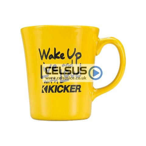 Kicker 14oz Wake Up Mug – Yellow & Black lettering