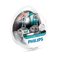 Philips Xtreme Vision PLUS 130% Extra Light – H4 Twin Pack