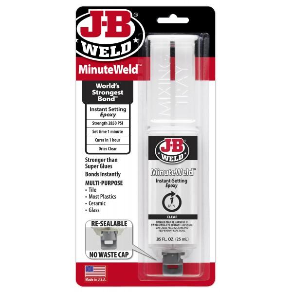 J-B Weld Minute Weld Syringe – Pack of 6
