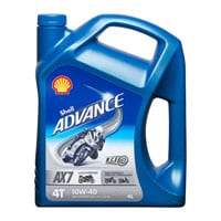Shell Advance 4T AX7 10W-40 – 4Ltr