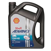 Shell Advance 4T Ultra 10W-40 (SN/MA2) – 4Ltr