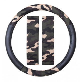 Steering Wheel Cover & Seat Belt Pads – Camouflage