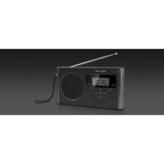 Muse PLL Portable Radio 4-Band FM/MW/LW/SW Black With LED Display