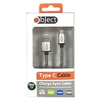 Object Type C USB Charging Cable (Silver)