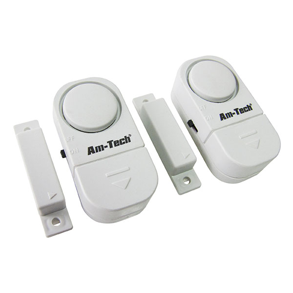 Am-Tech 2pc Door & Window Entry Alarm Set