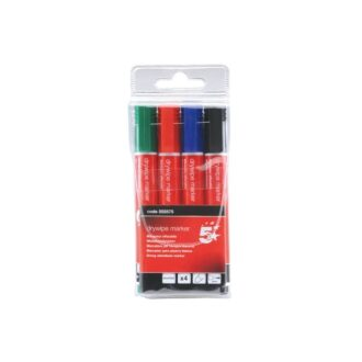 Dry Wipe Marker Pens – Assorted Colours – Pack of 4