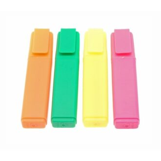 Office Highlighters – Assorted Colours – Pack of 4
