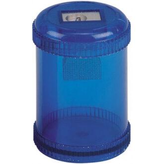 Plastic Canister Pencil Sharpener – Blue
