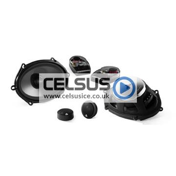 C3 5″ x 7″ / 6″ x 8″ (125 x 180 mm) Convertible Component/Coaxial Speaker System