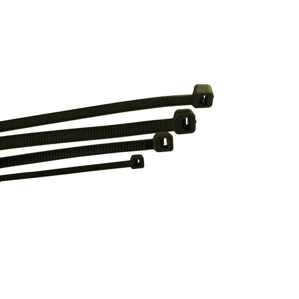 Cable Ties – Standard – Black – 300mm x 4.8mm – Pack Of 100
