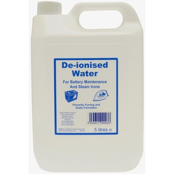 De-ionised Water – 5 Litre