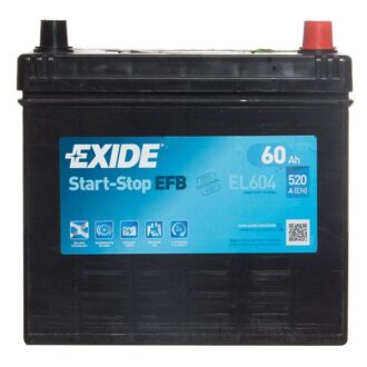 Exide EFB 005 Car Battery (EL604) – 3 year Guarantee