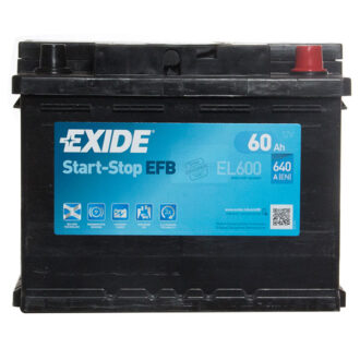 Exide EFB 027 Car Battery (EL600) – 3 year Guarantee