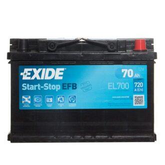 Exide EFB 096 Car Battery (EL700) – 3 year Guarantee